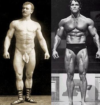 Eugen Sandow vs Schwarzenegger