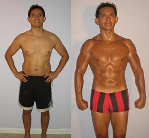 Al Sandoval - Adonis Index Contest Transformation Pictures