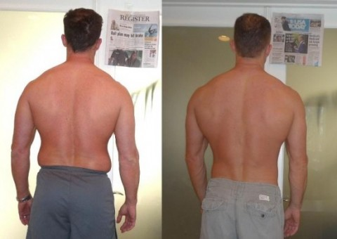 Mike's Adonis Index Transformation Back Pictures