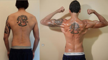 Brad B Adonis Index Transformation Back