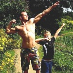 Here is picture of Gav (one of the guys in our Adonis Community). He is a big inspiration and a role model to his son.