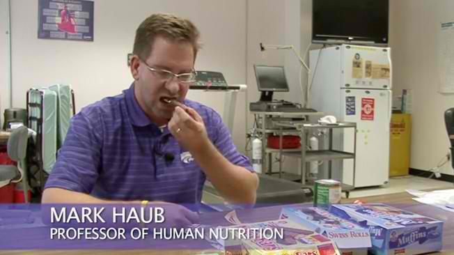 Professor Haub was surprised by the results of his experiment with snack foods. His health parameters improved.