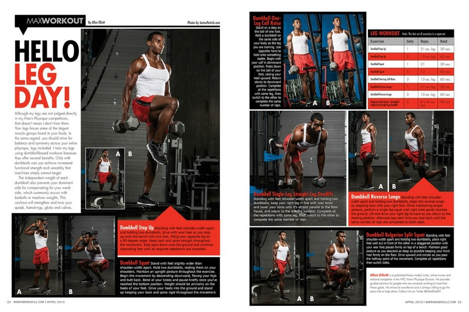 March 2013 Fitness Tear Sheet - Max Muscle Featured Writer