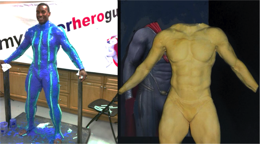 LifeCast Model for Custom SuperMan Costume - MySuperHeroGuy.com
