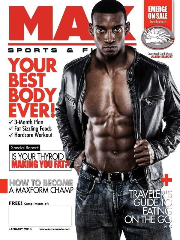 January 2013 Max Sports & Fitness  Magazine Cover Model