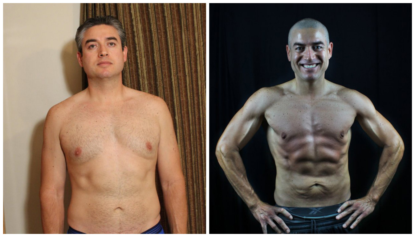 Oscar Ramirez - 10th Place -  Front Before/After Photos