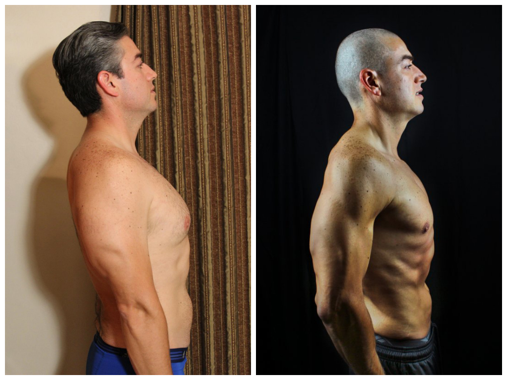 Oscar Ramirez - 10th Place -  Side Before/After Photos