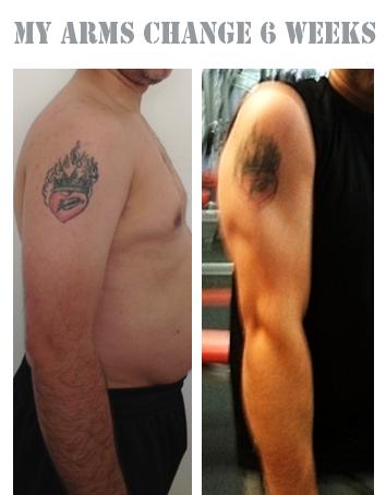 VTaper's Arm Progress pics over 6 Week Period of Transformation