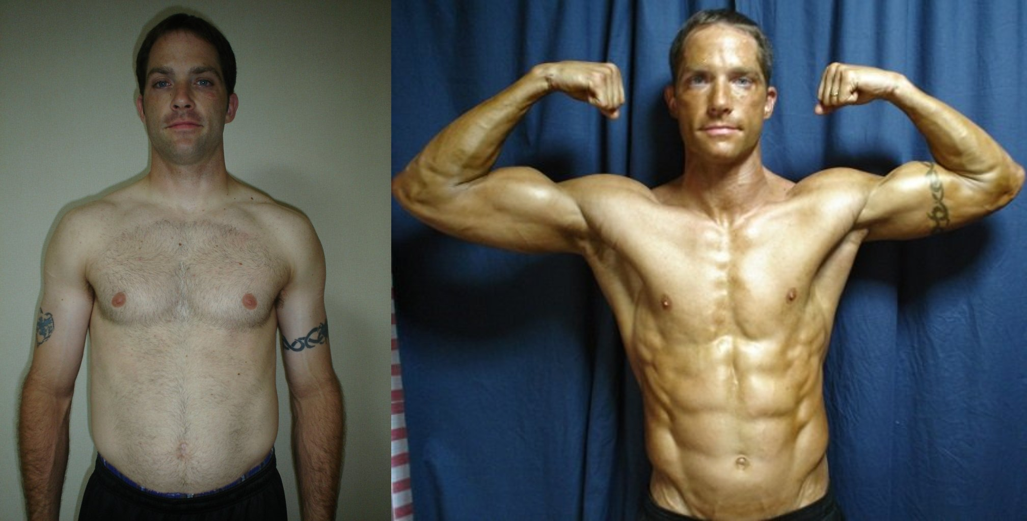 Keith Coomes - 2nd Place - Front Before/After Photos