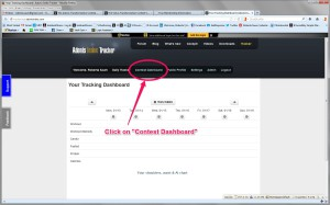 Step 2 Click on Contest Dashboard