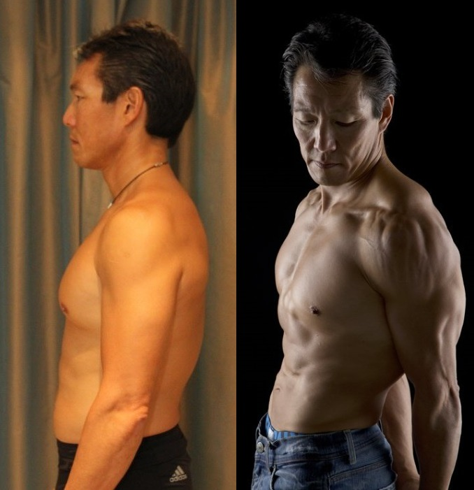Harold Shim - AT12 4th Place - Front Before/After Photos