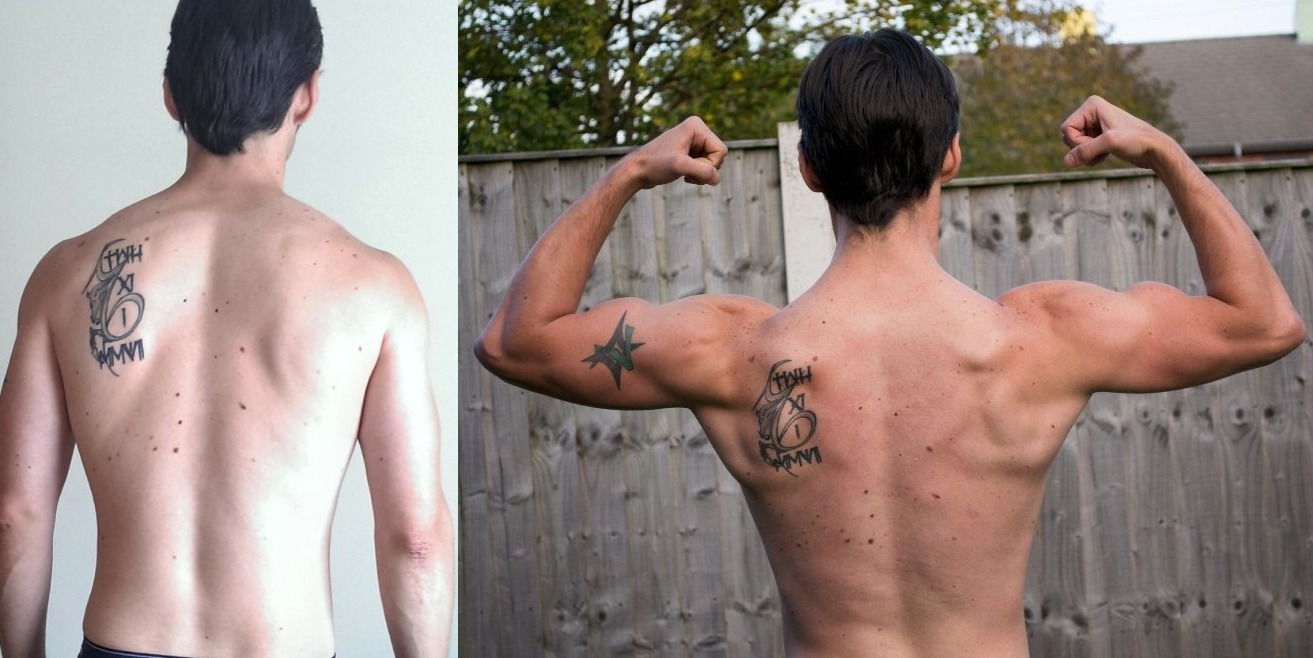Audie Harrison - AT12 6th Place - Back Before/After Photos