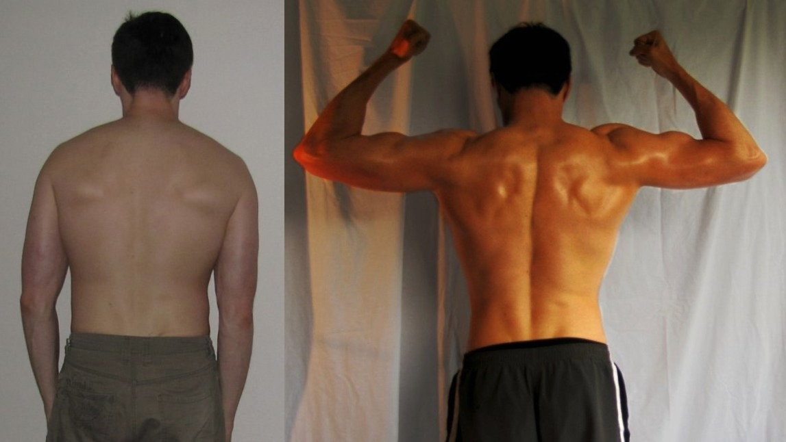 John Macris AT13- 8th Place - Back Before/After Photos