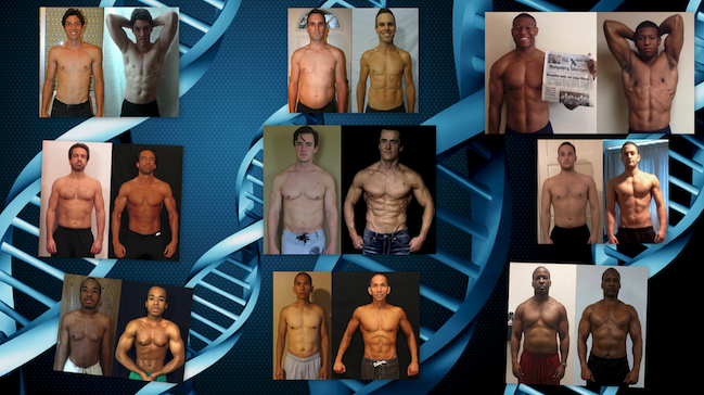 The 12 week contest only shows the small window of time at the end of their transformation.
