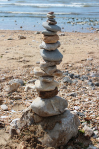 These days, I liken a busy life like a well-stacked pile of pebbles.